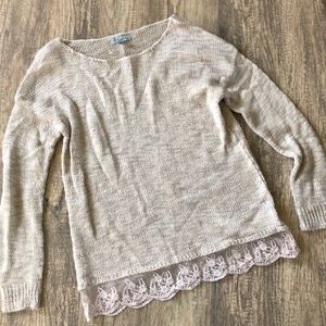 Sweater with Lace! Size Small! Worn Once!